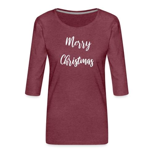 MerryChristmas - T-shirt Premium manches 3/4 Femme