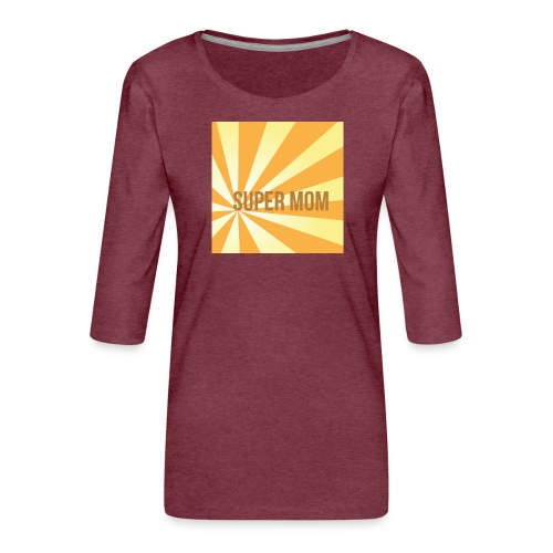 supermom maske2 - Frauen Premium 3/4-Arm Shirt