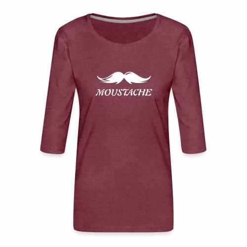 Schnurrbart - Frauen Premium 3/4-Arm Shirt