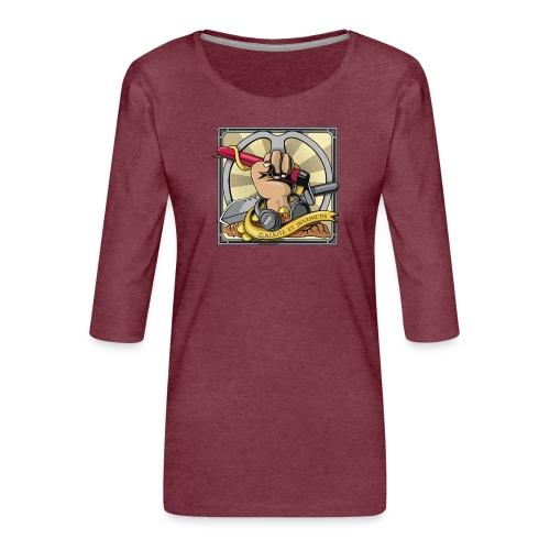 Quaerite et invenietis - Camiseta premium de manga 3/4 para mujer