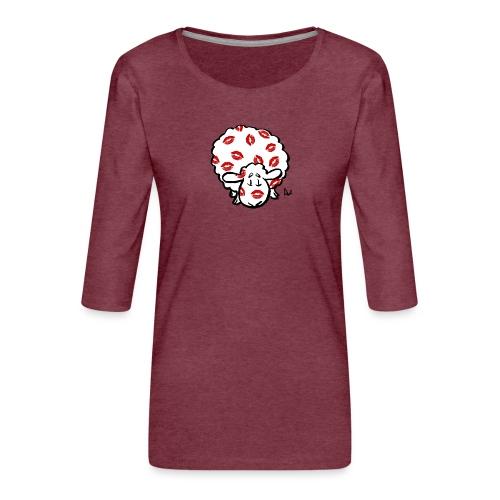 Kiss Ewe - Women's Premium 3/4-Sleeve T-Shirt