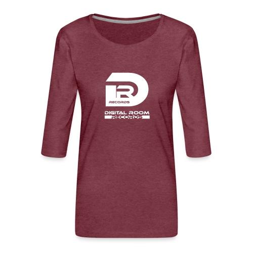 Digital Room Records Official Logo white - Women's Premium 3/4-Sleeve T-Shirt