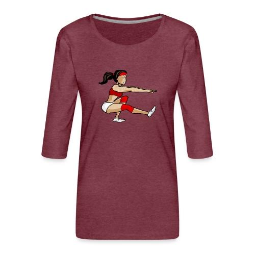 The pistol girl - Frauen Premium 3/4-Arm Shirt