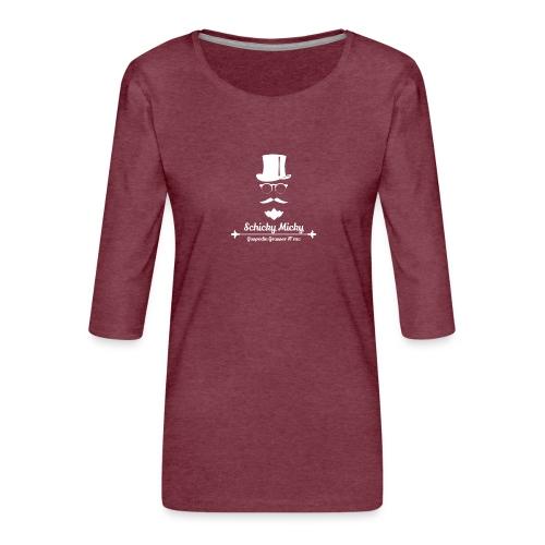 Schicky Micky Grosser K Weiss - Frauen Premium 3/4-Arm Shirt
