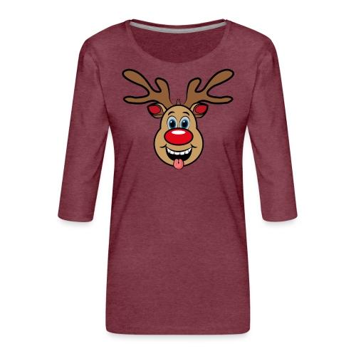 UGLY XMAS - Reindeer Rudi - Frauen Premium 3/4-Arm Shirt