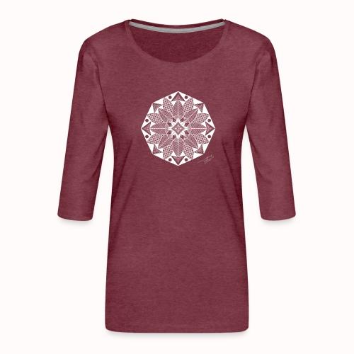 Flower - Women's Premium 3/4-Sleeve T-Shirt