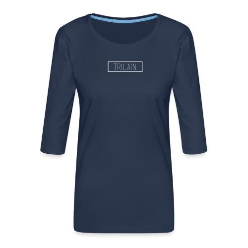 Trilain - Box Logo T - Shirt Black - Vrouwen premium shirt 3/4-mouw