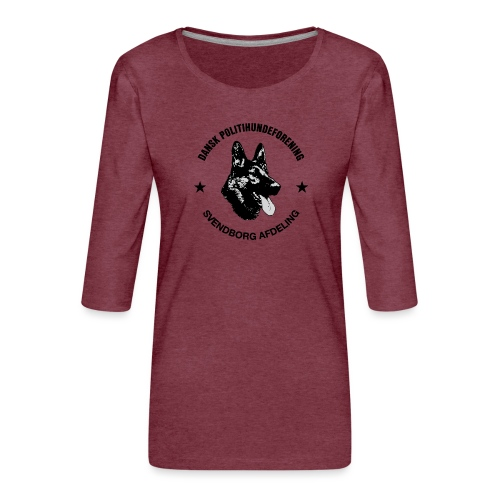 Svendborg ph sort - Dame Premium shirt med 3/4-ærmer