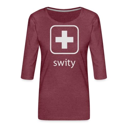 Schweizerkreuz-Kappe (swity) - Frauen Premium 3/4-Arm Shirt