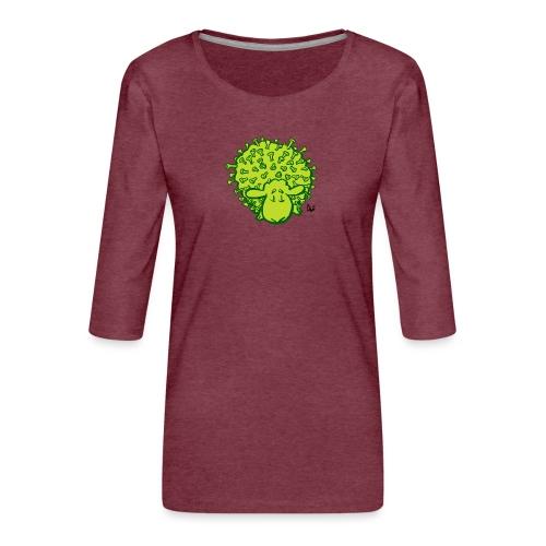 Virus får - Dame Premium shirt med 3/4-ærmer
