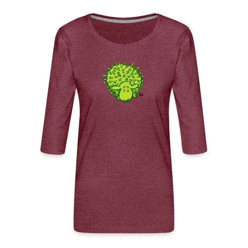 Virus Sheep - Vrouwen premium shirt 3/4-mouw