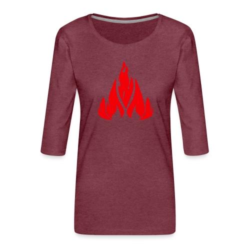 fire - Women's Premium 3/4-Sleeve T-Shirt