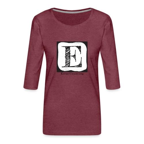Logo ErrareUmano (scritta nera) - Maglietta da donna premium con manica a 3/4