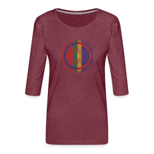 Samisk flagg - Premium T-skjorte med 3/4 erme for kvinner