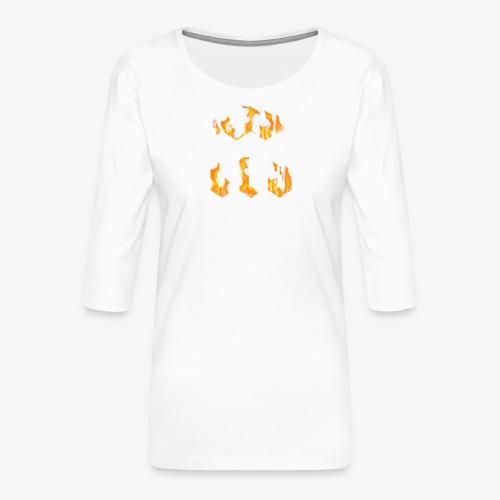 CLG DESIGN - T-shirt Premium manches 3/4 Femme