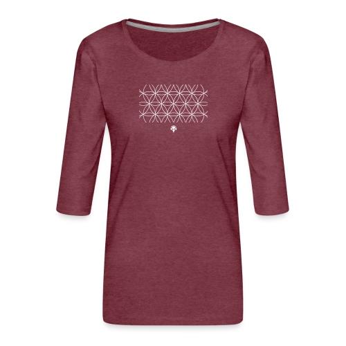 Herisodostida - Die Blume der Schöpfung - Frauen Premium 3/4-Arm Shirt