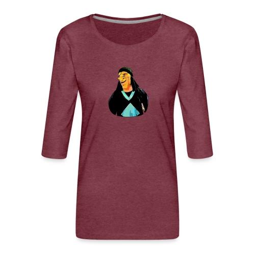 DARIAN - Camiseta premium de manga 3/4 para mujer