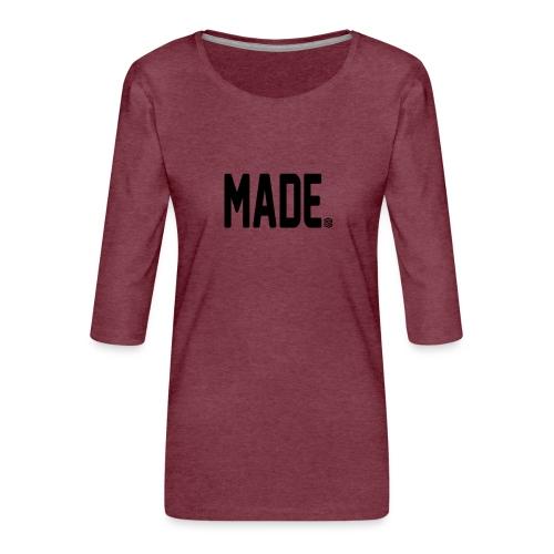 madesc - Premium-T-shirt med 3/4-ärm dam