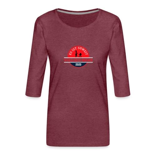 Es ist soweit Vollzeit Mama 2020 Muttertag Geburt - Frauen Premium 3/4-Arm Shirt