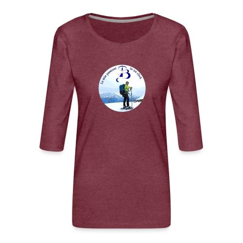 Logo cartone ciaspole - Maglietta da donna premium con manica a 3/4