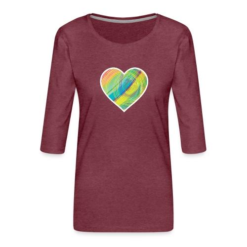 Spread the Love - Women's Premium 3/4-Sleeve T-Shirt