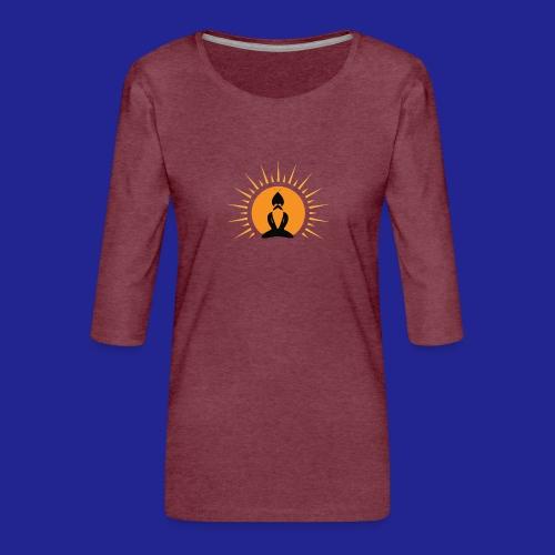 Guramylife logo black - Women's Premium 3/4-Sleeve T-Shirt