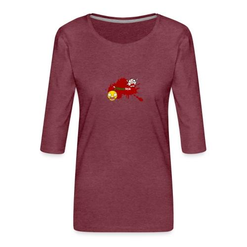 FitwayStyle 3 - Camiseta premium de manga 3/4 para mujer