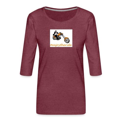enjoytheride - T-shirt Premium manches 3/4 Femme