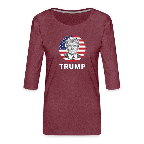 Donald trump - Frauen Premium 3/4-Arm Shirt