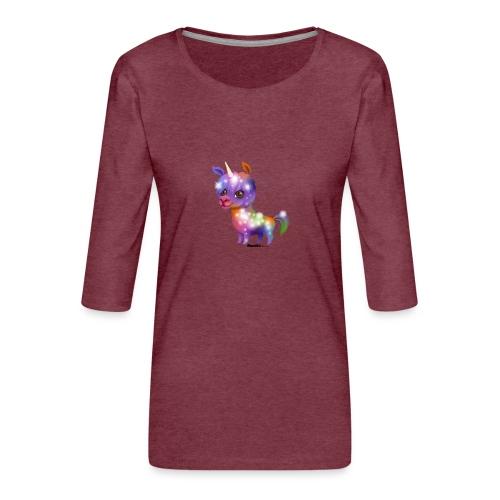 Llamacorn - Premium T-skjorte med 3/4 erme for kvinner