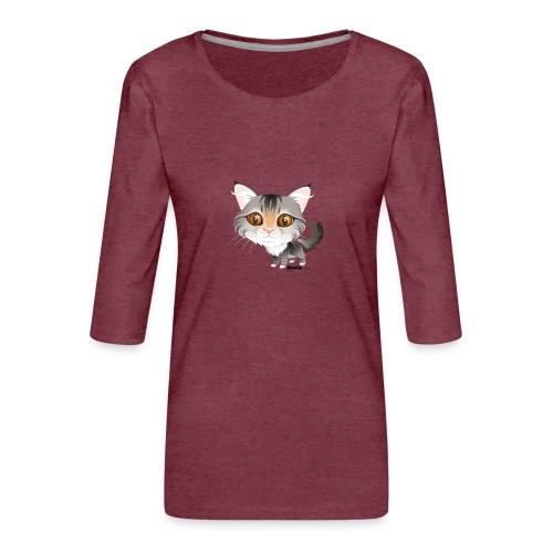 Katze - Frauen Premium 3/4-Arm Shirt