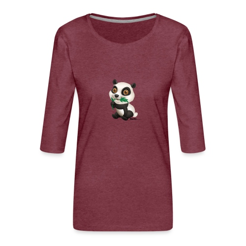 Panda - Frauen Premium 3/4-Arm Shirt