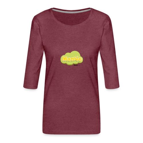 Momio-logo - Premium T-skjorte med 3/4 erme for kvinner