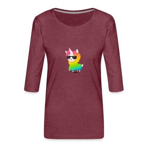 Regenbogenanimation - Frauen Premium 3/4-Arm Shirt