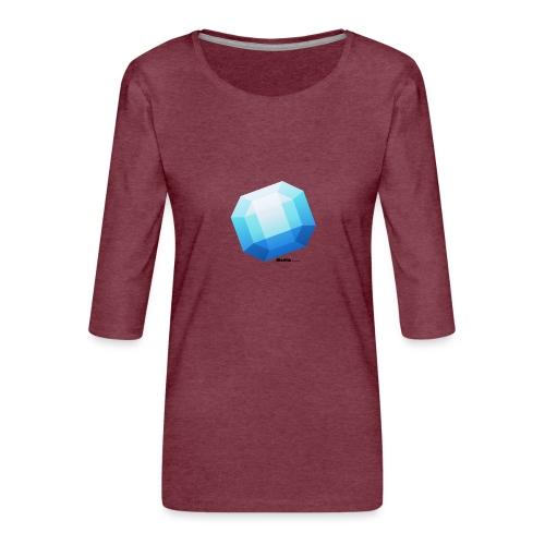 Safir - Premium T-skjorte med 3/4 erme for kvinner