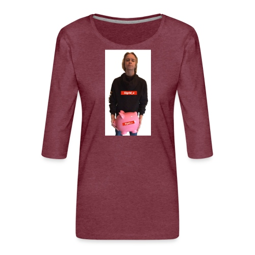 Sigrid_uPhotoTee - Premium T-skjorte med 3/4 erme for kvinner