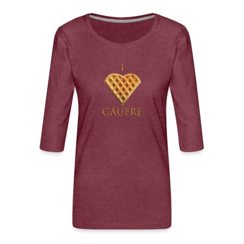 i love gaufre - T-shirt Premium manches 3/4 Femme