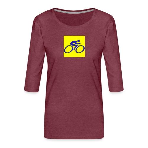 Tour de Epe Logo 2017 2018 1 png - Vrouwen premium shirt 3/4-mouw