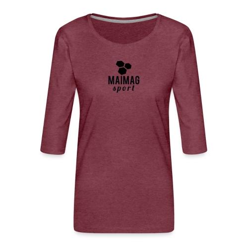 Mejores marca - Camiseta premium de manga 3/4 para mujer