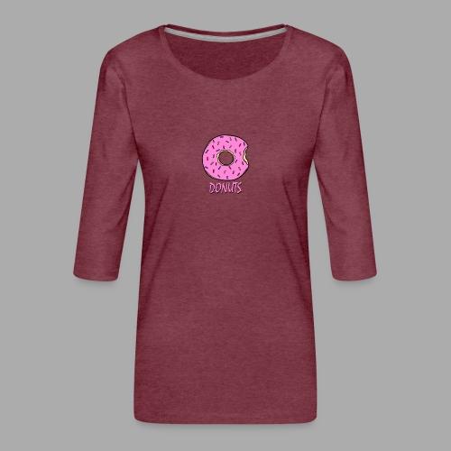 DONUTS - Camiseta premium de manga 3/4 para mujer