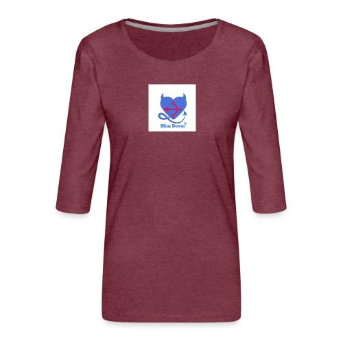 Logo Mon Dover - Maglietta da donna premium con manica a 3/4
