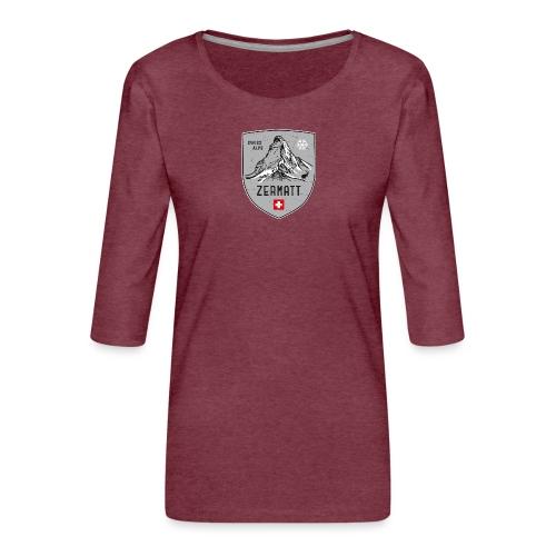 Zermatt Schweiz Wappen - Women's Premium 3/4-Sleeve T-Shirt