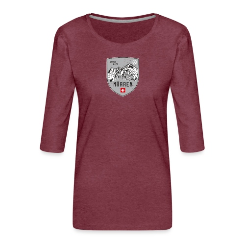 Murren Switzerland coat of arms - Women's Premium 3/4-Sleeve T-Shirt