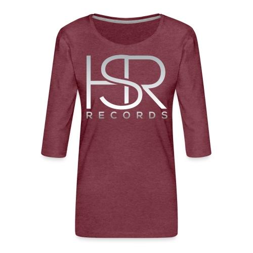 HSR RECORDS - Maglietta da donna premium con manica a 3/4