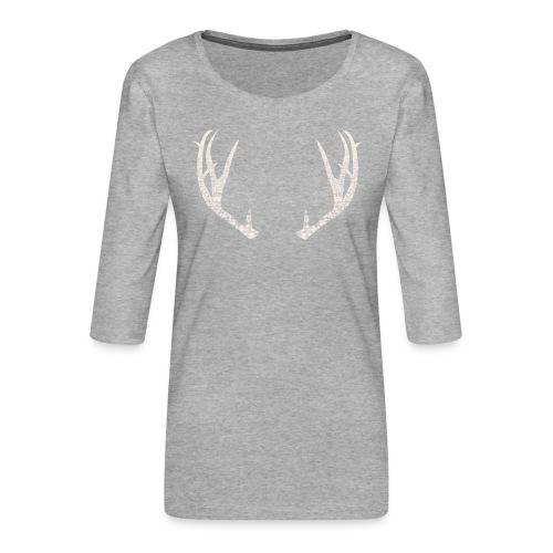 Jäiset poronsarvet - Naisten premium 3/4-hihainen paita