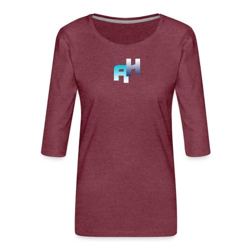 Logo-1 - Maglietta da donna premium con manica a 3/4