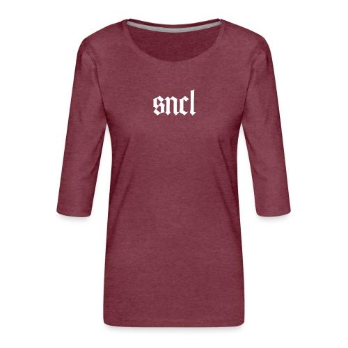SNCL Retro Weiß - Frauen Premium 3/4-Arm Shirt