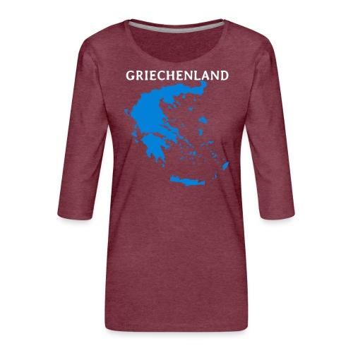 Griechenland - Frauen Premium 3/4-Arm Shirt