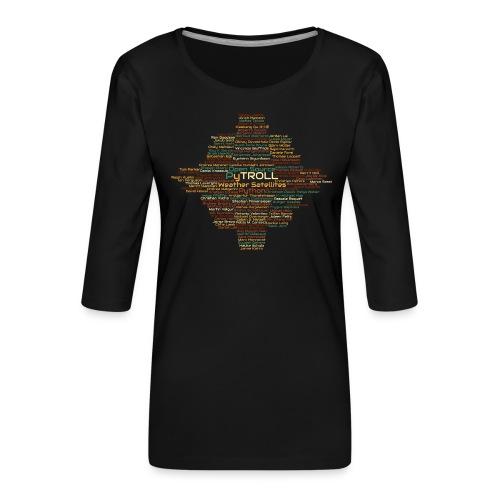 Pytroll wordcloud march 2019 - Women's Premium 3/4-Sleeve T-Shirt