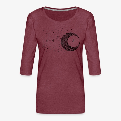 Dream your routes - Women's Premium 3/4-Sleeve T-Shirt